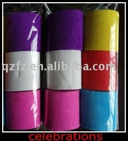 streamer pack process color crepe paper ,