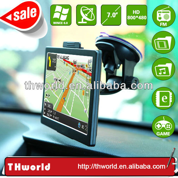 2014 hot sale 7 inch navigation car gps system with whole EU truck map