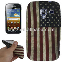 Hot sell Retro US Flag Pattern TPU Case for Samsung AcE2 i8160