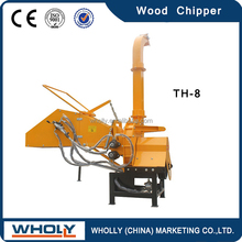 Two hydraulic feeding rollers, CE approved heavy duty wood chipper
