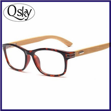 2017 PC UV400 fashion reading plain wood sun glasses promotional