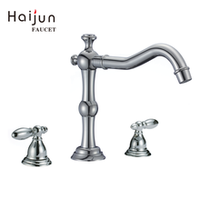 Supply Brass Three Hole Bathroom Mixer Tap Faucet