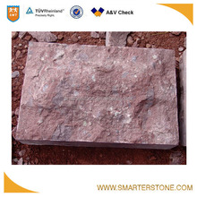 Natural stone brick porphyry red porphyry for outside paving