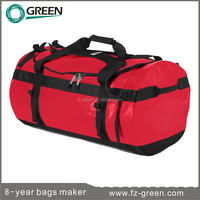 Nylon red color travel car luggage bags and bags cases