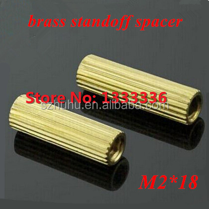 200pcs/lot M2*18 <strong>Brass</strong> Round Standoff Spacer Female-Female M2 Screw L=18mm