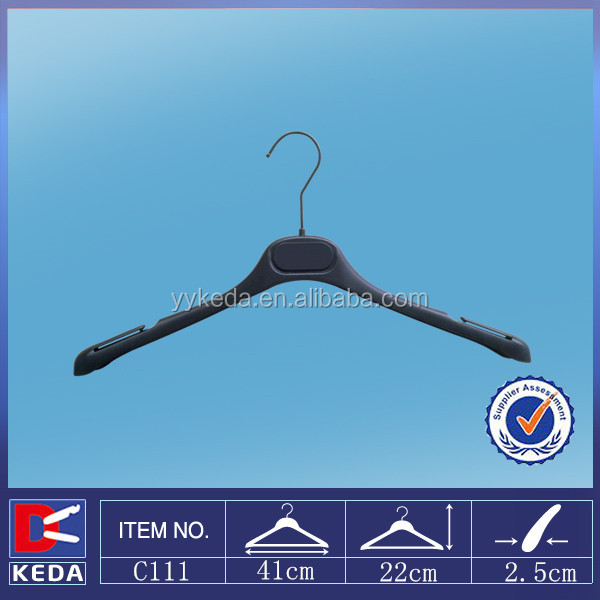 plastic fabric sample hangers garment usage clothes hanger