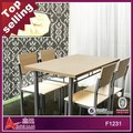 2014 hot sale High Quality French Style Antique Solid Wood Dining Table Set
