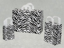 Eco-friendly Zebra Printed Retail Carry Out Bag Biodegradable OEM Plastic Shopping Carrier Bag Wholesale
