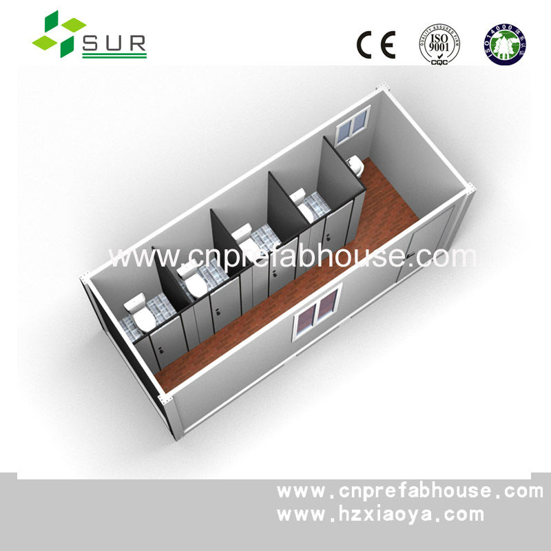 CE 20ft Container toilet(4 toilets and 1 washbasin)