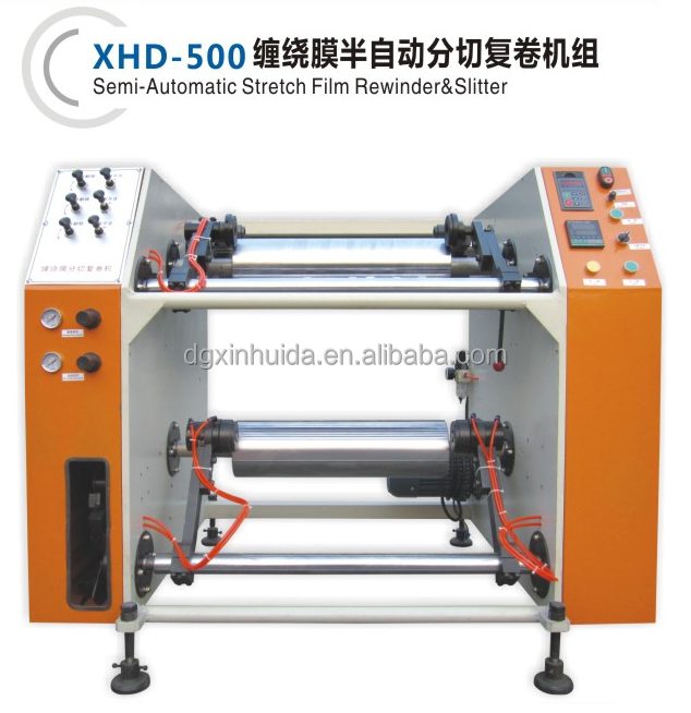 slit rewinder machinery for rolling plastic stretch film
