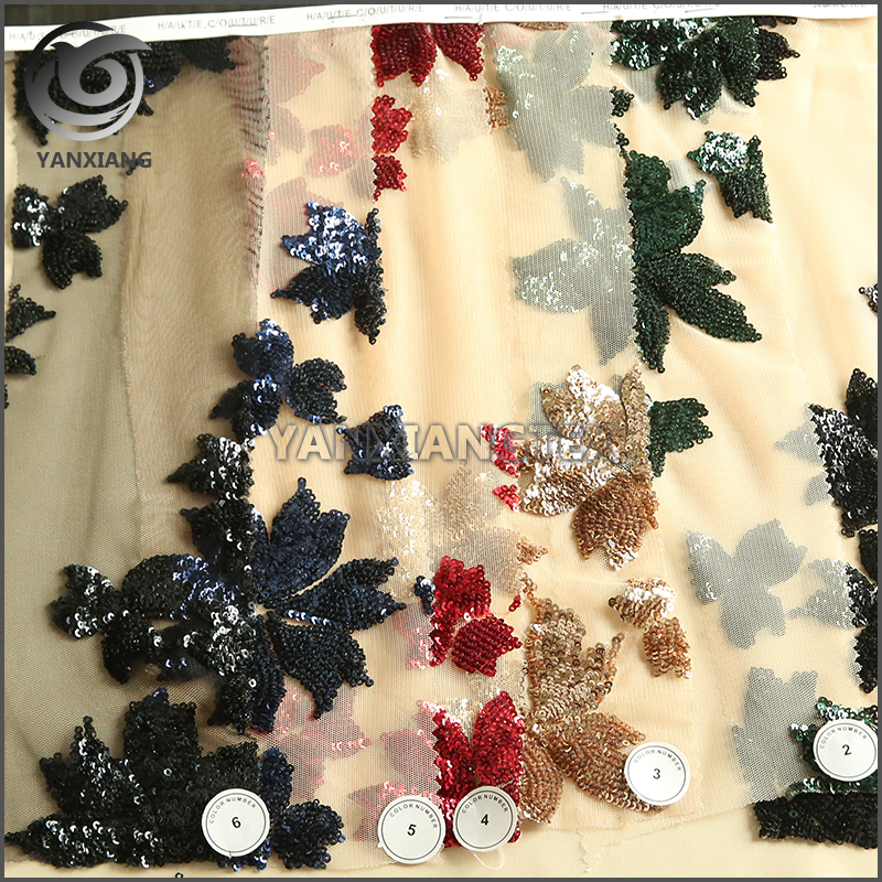 Special hot selling embroidery chiffon fabric for dress