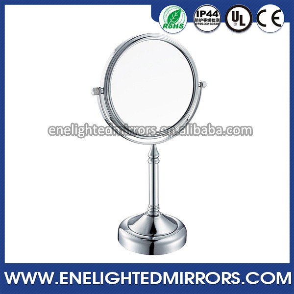UK Popular style led standing battery operated lighted shaving mirror
