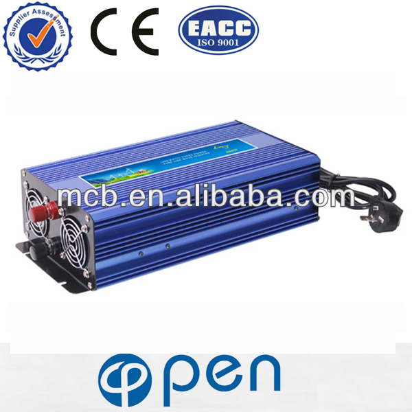 OP-1000C with plug and soft intelligent cooling fan solar hybrid inverter