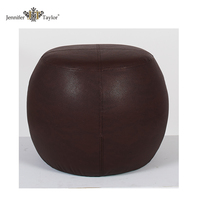 living room furniture round moroccan pouf /fancy large leather ottoman stool