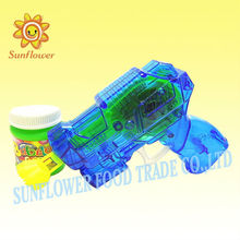 Plastic Cartoon Bubble Gun Candy Toy With Light
