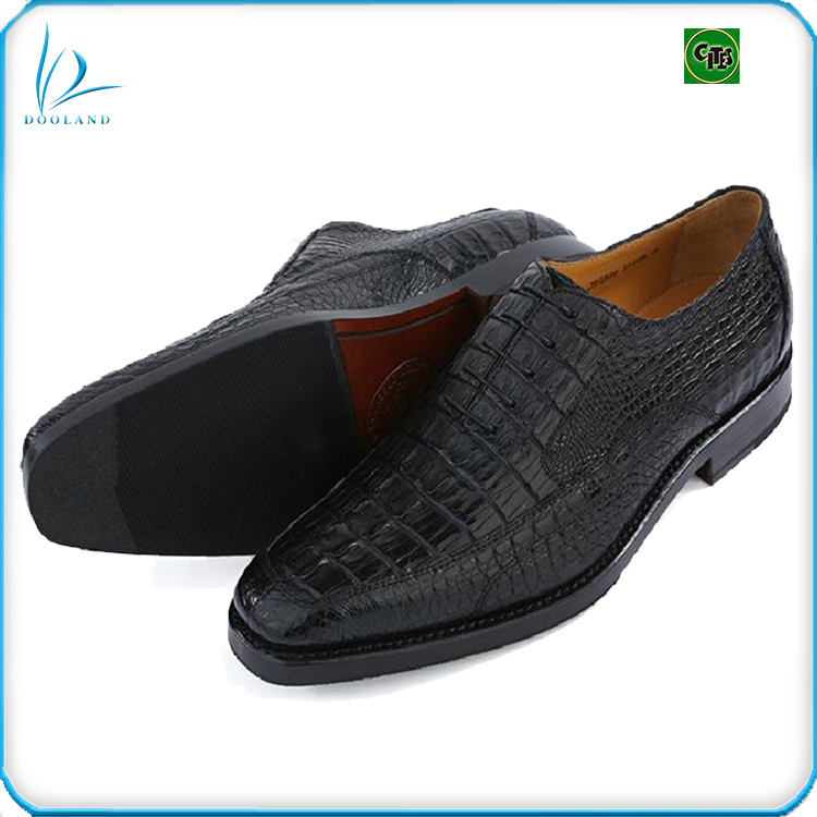 Exotic genuine crocodile leather men shoes