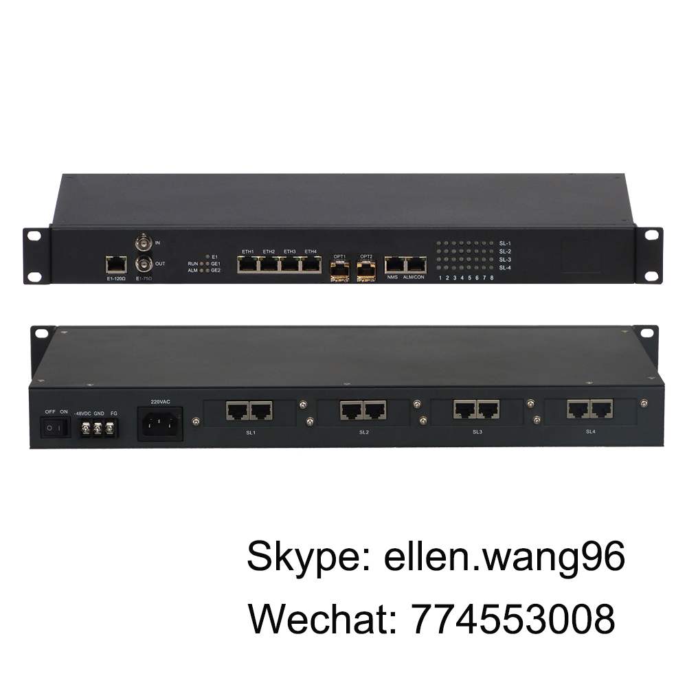 IP Network  Equipment with 4 FE + 32 channel voice PCM multiplexer