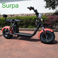 easy rider electric scooter/front rear suspension APP/2 seat/ two lithium battery fat tire citycoco e vehicle motorcycle