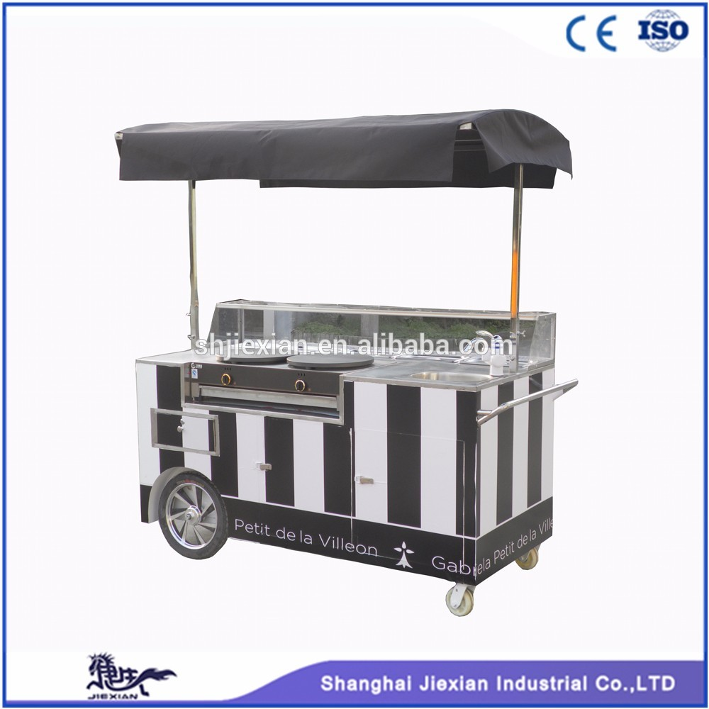 Jx Cc180 Professional Crepe Cart Street Food Vending Carts