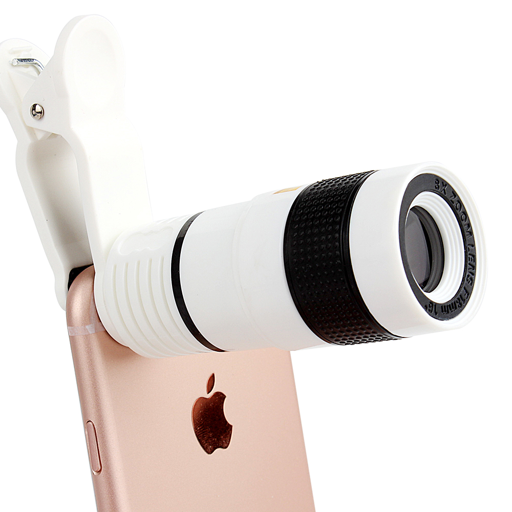 2017 professional cell phone telescope 8X telephone optical zoom mobile camera lens for cellpone iphone smartphone