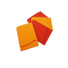 High quality bulk cheap promotional 3M sticker silicone custom logo small business card case
