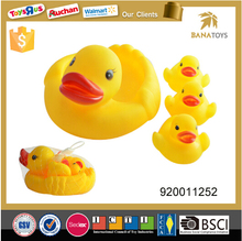 Promotional Yellow Rubber Floating Duck Baby Bath Toy