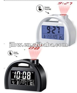 Modern Design Touch Table/Digital/Desk Clock with Time Projection and Talking Function