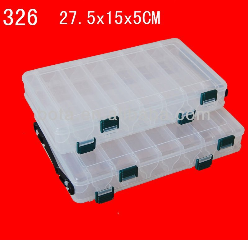 14 Compartments Fishing Lures Hooks Baits Plastic Tackle Box Case