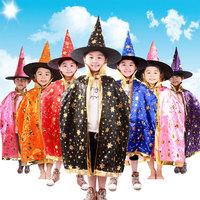 wholesale 2016 Witch Wizard halloween chidren simple cosplay cloak halloween costume