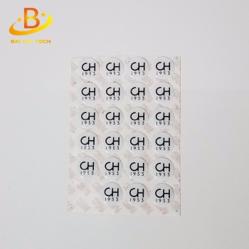 Custom decorative 3M glue epoxy sticker for cars