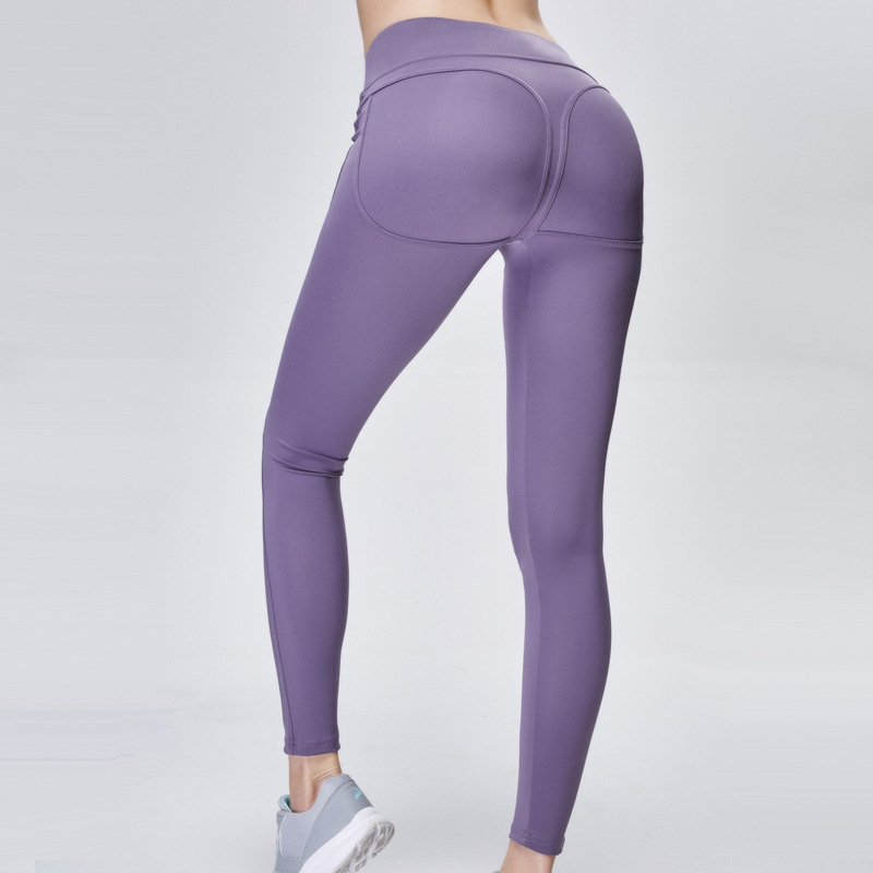New hip yoga pants tight hip high waist sweatpants explosion models high elastic professional fitness solid color yoga pants
