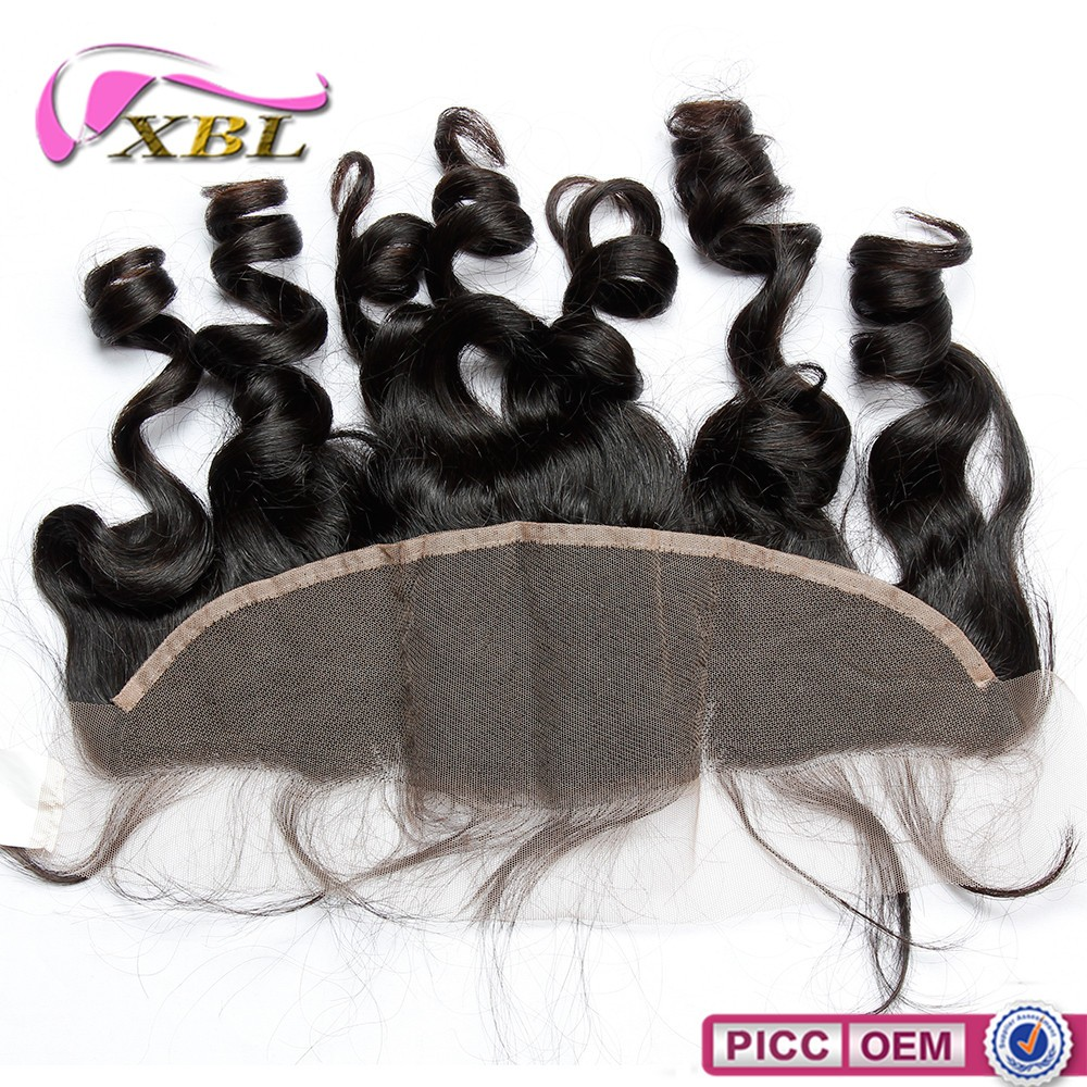 Wholesale factory lase base 13x4 natural raw indian hair frontal