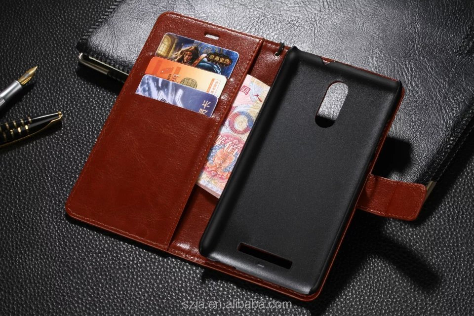 Mobile flip stand wallet cover case for Xiaomi Redmi Note 2 / 3 leather case