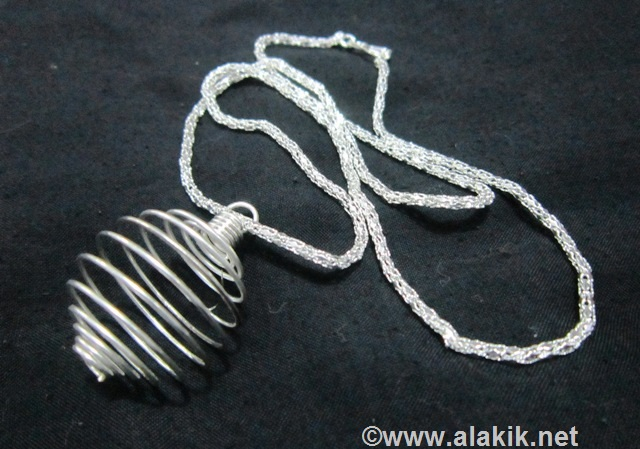 Silver necklace with cage : wholesale Metaphysical jewellery