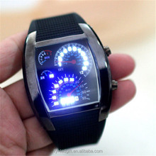 Cool super luminescent glow LED watch the student table