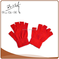 Children Colorful Polar Fleece Fingerless Gloves For Writing