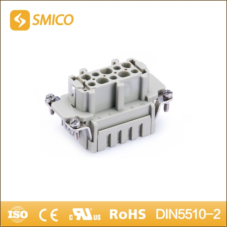 HVE-003-FS 05100330200 3+2+E 6PIN threaded connector replace Phoenix Rock star heavy duty connector 1651310000,1651320000