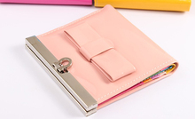 Promotional candy color metal clip coin purse, small coin wallet