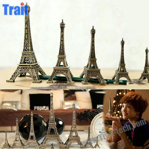 32cm Height Romantic Metal Eiffel Tower 3D Model Gift for Friends and Family Paypal Accept
