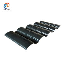 Chinese style ASA synthetic grey resin roof tile / free samples building materials ASA plastic pvc tile roof