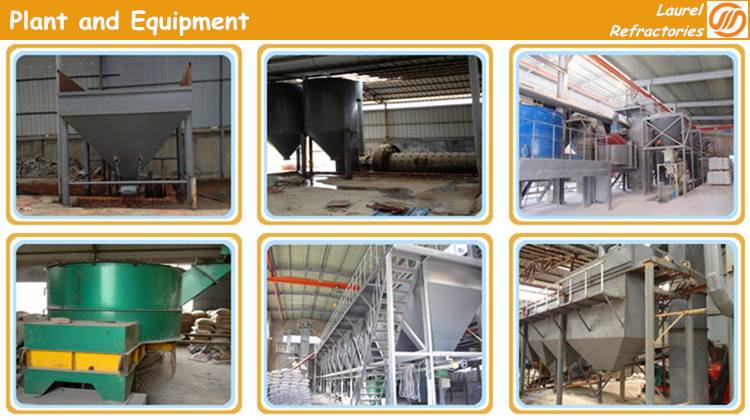 High temperature refractory low cement castable refractory cement