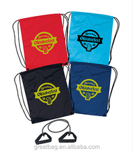Promotional polyester drawstring pouch backpack travel bag