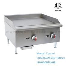 EGG-48S 4 Burners ETL Stainless Steel Flat Plate Gas Dosa Manual Griddle