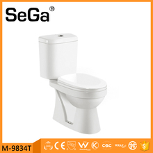 M-9834T China portable square dual flush two piece toilet