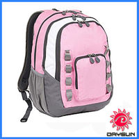 Pink school laptop backpack/personalized bags backpack/kids school bags