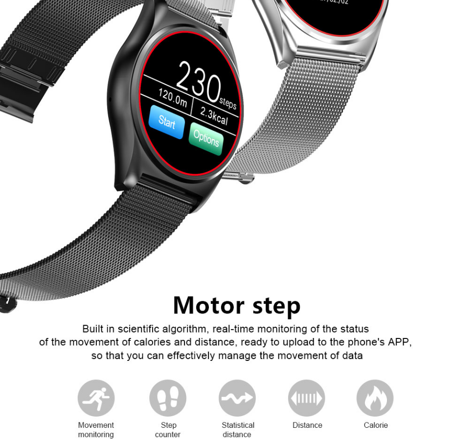 MT2502C 1.3 Inch Smart Watch N3 With Heart Rate Monitor Bluetooth Smart Watch