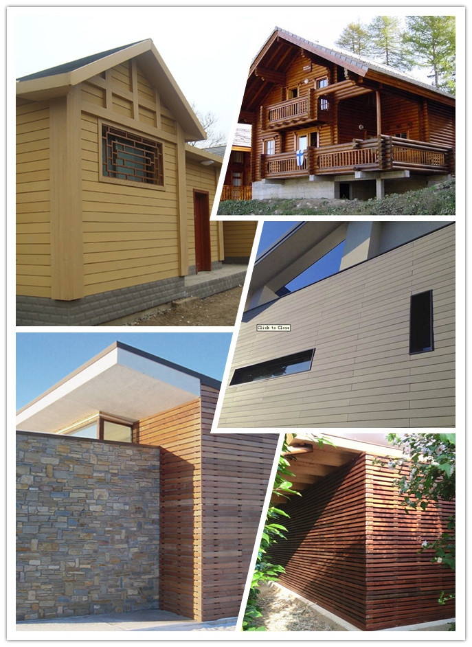 outdoor mix color co-extrusion wood-plastic decking