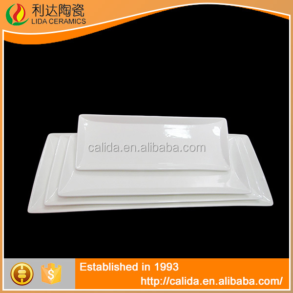 High quality porcelain restaurant dish 31.2*11.5*2 rectangular dinner plate