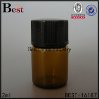 1 dram glass vials 2 3 4 5 6 7 8 ml amber color glass bottle mini cosmetics essential oil bottle tester vial with black plastic