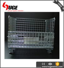 Collapsible Portable Metal Galvanized Wire Mesh Steel Pallet Cage